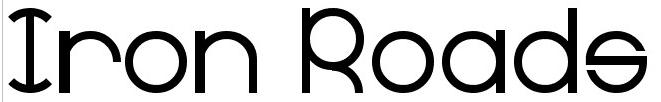 Iron Roads with Radius Font